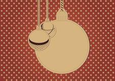 Κενή κάρτα Χριστουγέννων Στοκ εικόνες με δικαίωμα ελεύθερης χρήσης