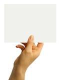 κενή κάρτα Στοκ εικόνες με δικαίωμα ελεύθερης χρήσης