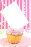 κενή κάρτα cupcake Στοκ εικόνες με δικαίωμα ελεύθερης χρήσης