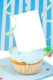 κενή κάρτα cupcake Στοκ εικόνα με δικαίωμα ελεύθερης χρήσης