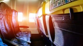 Κενή καμπίνα αεροσκαφών Στοκ Εικόνες