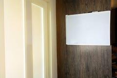 Κενή κενή υπενθύμιση σημειώσεων whiteboard Στοκ φωτογραφία με δικαίωμα ελεύθερης χρήσης
