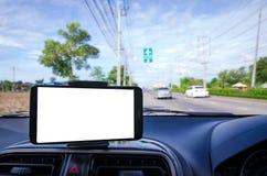 Κενή κινητή έξυπνη τηλεφωνική εκλεκτική εστίαση στο δρόμο για να πάει στον αέρα po Στοκ Εικόνες