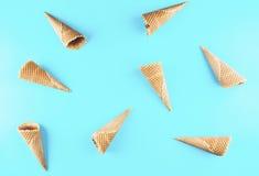 Κενή κορνέτα παγωτού Στοκ εικόνες με δικαίωμα ελεύθερης χρήσης