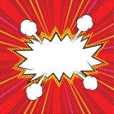 Κενή κωμική λεκτική φυσαλίδα διανυσματική απεικόνιση