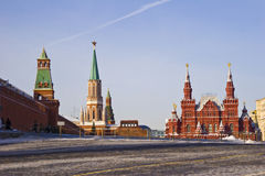 Κενή κόκκινη πλατεία στη Μόσχα Στοκ φωτογραφία με δικαίωμα ελεύθερης χρήσης