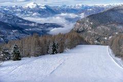 κενή κλίση σκι Στοκ Εικόνα