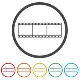 Κενή λουρίδα ταινιών, 6 χρώματα συμπεριλαμβανόμενα Στοκ Φωτογραφίες