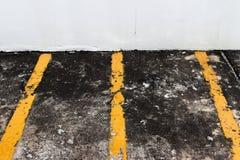 Κενή μοτοσικλέτα χώρων στάθμευσης στοκ εικόνες