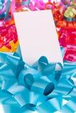 κενή μπλε κάρτα τόξων Στοκ Εικόνα