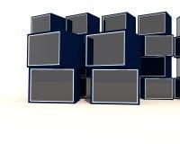 Κενή μπλε προθήκη Στοκ εικόνα με δικαίωμα ελεύθερης χρήσης