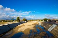 Κενή ξηρασία Καλιφόρνιας ποταμών νότια στοκ φωτογραφίες