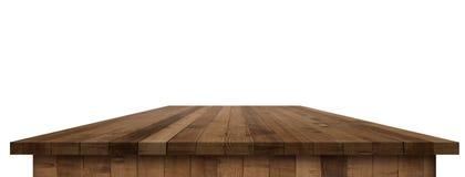 Κενή ξύλινη επιτραπέζια προοπτική με το ψαλίδισμα της μάσκας Στοκ εικόνα με δικαίωμα ελεύθερης χρήσης