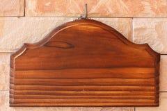 Κενή ξύλινη πινακίδα Στοκ Εικόνες