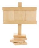 Κενή ξύλινη ταμπλέτα Στοκ φωτογραφία με δικαίωμα ελεύθερης χρήσης