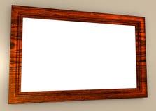 Κενή ξύλινη εικόνα Frsme Στοκ Φωτογραφίες
