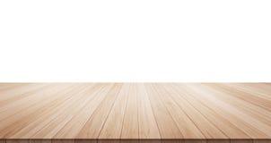 Κενή ξύλινη κορυφή επιτραπέζιων πατωμάτων για το προϊόν επίδειξης ή montage Στοκ εικόνα με δικαίωμα ελεύθερης χρήσης