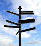 κενή οδός σημαδιών Στοκ εικόνα με δικαίωμα ελεύθερης χρήσης