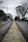 Κενή οδός στο SAN José, Κόστα Ρίκα στοκ εικόνα με δικαίωμα ελεύθερης χρήσης
