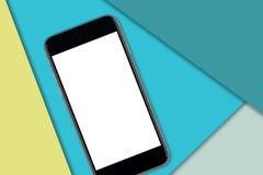 Κενή οθόνη στο μαύρο smartphone στοκ φωτογραφία με δικαίωμα ελεύθερης χρήσης