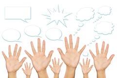 κενή ομιλία χεριών φυσαλίδων Στοκ φωτογραφία με δικαίωμα ελεύθερης χρήσης