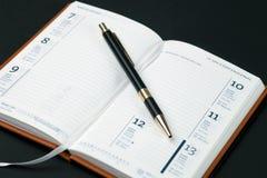 κενή πέννα ημερολογίων Στοκ εικόνες με δικαίωμα ελεύθερης χρήσης