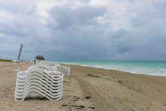 Κενή παραλία πρωινού, Κούβα, Varadero Στοκ εικόνες με δικαίωμα ελεύθερης χρήσης