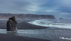 Κενή παραλία Reynisfjara στοκ εικόνες