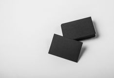 Κενή παρουσίαση επαγγελματικών καρτών για την προώθηση της εταιρικής ταυτότητας οριζόντιος Στοκ εικόνα με δικαίωμα ελεύθερης χρήσης