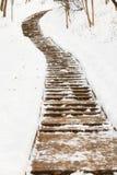 Κενή πορεία στο χιόνι Στοκ Εικόνες