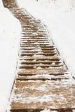 Κενή πορεία στο χιόνι Στοκ Φωτογραφία