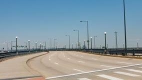 Κενή πολλών δρόμων εθνική οδός στοκ εικόνα με δικαίωμα ελεύθερης χρήσης