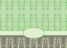 Κενή πράσινη ευχετήρια κάρτα Στοκ Εικόνα