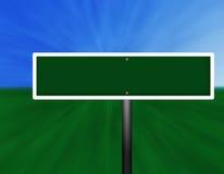 κενή πράσινη οδός σημαδιών Στοκ Φωτογραφία