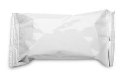 Κενή πλαστική συσκευασία τροφίμων στο λευκό Στοκ Φωτογραφία