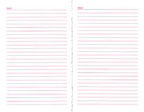 κενή σελίδα σημειωματάρι&o Στοκ Εικόνες