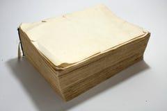 Κενή σελίδα του παλαιού βιβλίου με τις κίτρινες σελίδες Στοκ Εικόνα