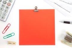 Κενή σημείωση εγγράφου χρώματος Στοκ φωτογραφίες με δικαίωμα ελεύθερης χρήσης
