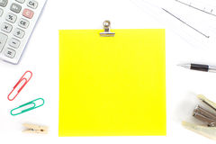 Κενή σημείωση εγγράφου χρώματος Στοκ Εικόνες