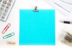 Κενή σημείωση εγγράφου χρώματος Στοκ εικόνα με δικαίωμα ελεύθερης χρήσης