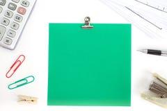 Κενή σημείωση εγγράφου χρώματος Στοκ εικόνες με δικαίωμα ελεύθερης χρήσης
