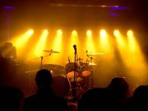 Κενή σκηνή στη συναυλία στοκ εικόνα με δικαίωμα ελεύθερης χρήσης