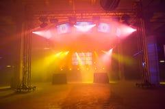 κενή σκηνή συναυλίας Στοκ Εικόνες