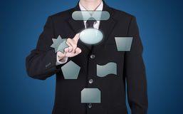 κενή στιγμή κουμπιών Τύπου επιχειρηματιών Στοκ Φωτογραφίες