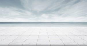 Κενή συγκεκριμένη κορυφή πατωμάτων για το προϊόν επίδειξης ή montage Στοκ Φωτογραφίες