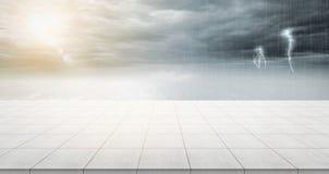 Κενή συγκεκριμένη κορυφή πατωμάτων για το προϊόν επίδειξης ή montage Στοκ Εικόνες