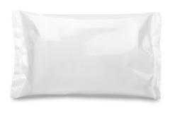 Κενή συσκευασία τροφίμων πλαστικών σακουλών στο λευκό Στοκ Εικόνα
