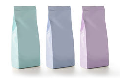 Κενή συσκευασία τσαντών σακουλιών πρόχειρων φαγητών τροφίμων φύλλων αλουμινίου Στοκ εικόνα με δικαίωμα ελεύθερης χρήσης