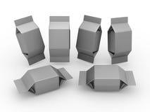 Κενή συσκευασία φύλλων αλουμινίου για το τετραγωνικό προϊόν μορφής στοκ φωτογραφία
