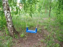 Κενή ταλάντευση στο δάσος Στοκ εικόνες με δικαίωμα ελεύθερης χρήσης